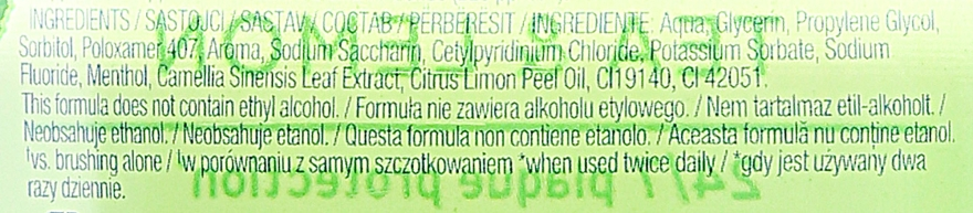 "Ustní voda ""Čaj a citron"" - Colgate Plax Tea&Lemon — foto N3"