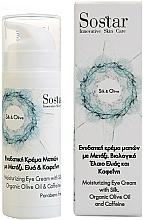 Parfémy, Parfumerie, kosmetika Zvlhčující krém na oči Hedvábí a Olivy - Sostar Silk & Olive Moisturizing Eye Cream