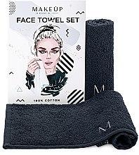 """Parfémy, Parfumerie, kosmetika Cestovní sada ručníků, černé """"MakeTravel"""" - Makeup Face Towel Set"""