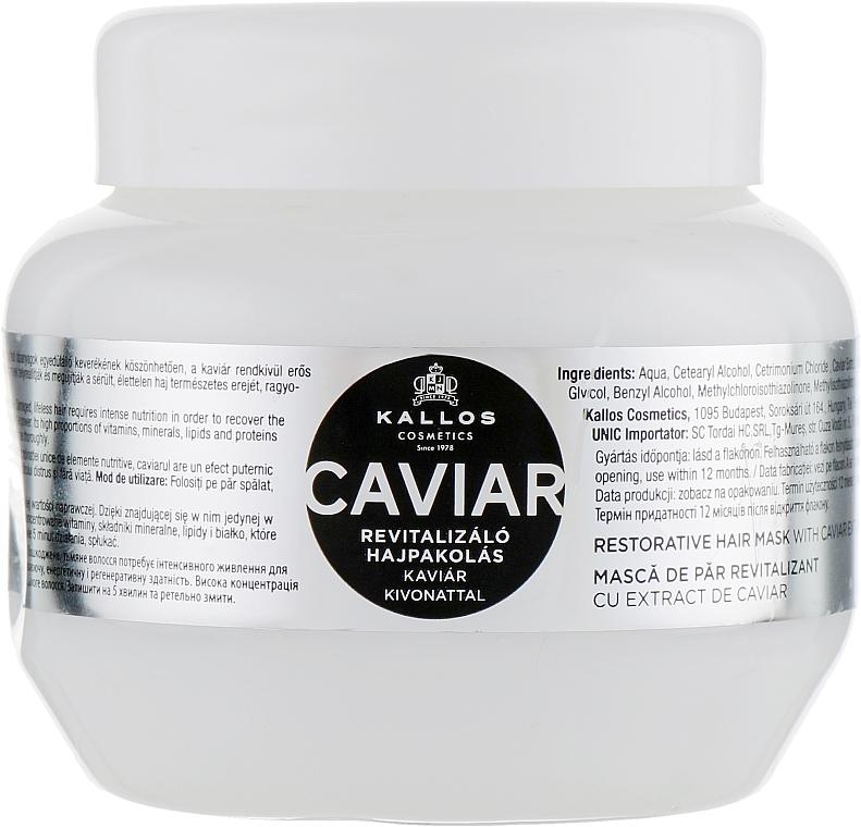 Maska na obnovu vlasů s extraktem z černého kaviáru - Kallos Cosmetics Anti-Age Hair Mask