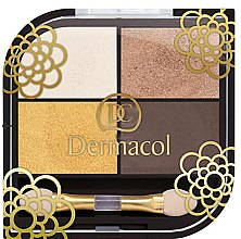 Parfémy, Parfumerie, kosmetika Oční stíny - Dermacol Quattro Eye Shadows Limited Edition
