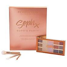 Parfémy, Parfumerie, kosmetika Sada stínů a štětců na make-up - Makeup Revolution Soph's Party (eyeshadow/9x1,1g,2x5,2g+brush/3pc.)