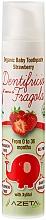 Parfémy, Parfumerie, kosmetika Dětská zubní pasta Jahoda - Azeta Bio Organic Baby Toothpaste Strawberry