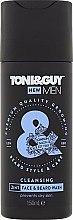 Parfémy, Parfumerie, kosmetika Šampon na vousy a knír Zvlhčující - Toni & Guy Men Cleansing 2in1 Face & Beard Wash