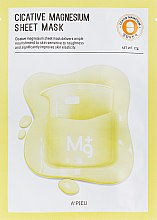 Parfémy, Parfumerie, kosmetika Bavlněná pleťová maska Magnesium - A'pieu Cicative Magnesium Sheet Mask
