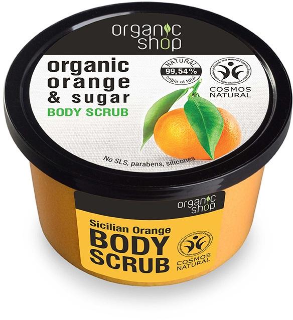 """Tělový peeling """" Sicilský pomeranč"""" - Organic Shop Body Scrub Organic Orange & Sugar"""