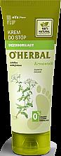 Parfémy, Parfumerie, kosmetika Deodorizující krém na nohy s extraktem řebříčku - O'Herbal Deodorizing Foot Cream With Yarrow Extract