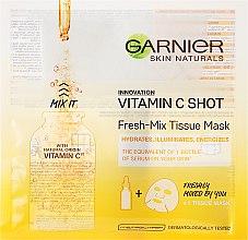Parfémy, Parfumerie, kosmetika Plátýnková maska s vitaminem C - Garnier SkinActive Fresh-Mix Sheet Mask with Vitamin C