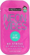 Parfémy, Parfumerie, kosmetika Zklidňující maska - Freeman Beauty Neon Vibes No Stress Oil Absorbing Clay Mask