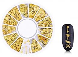 Parfémy, Parfumerie, kosmetika Ozdoby na nehty Gold-6 - Deni Carte
