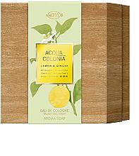 Parfémy, Parfumerie, kosmetika Maurer & Wirtz 4711 Aqua Colognia Lemon & Ginger - Sada (col 170ml + soap/100g)