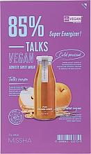 Parfémy, Parfumerie, kosmetika Látková maska - Missha Talks Vegan Squeeze Sheet Mask Super Energizer