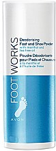 Parfémy, Parfumerie, kosmetika Deodorant-talc na nohy - Avon Foot Works Deodoring Foot and Shoe Powder