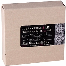 Parfémy, Parfumerie, kosmetika Bath House Cuban Cedar & Lime - Mýdlo na holení (náhradní náplň)