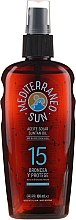 Parfémy, Parfumerie, kosmetika Olej na opalování - Mediterraneo Sun Coconut Suntan Oil Dark Tanning SPF15