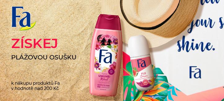 Získej plážovou osušku jako dárek k nákupu produktů Fa v hodnotě nad 200 Kč