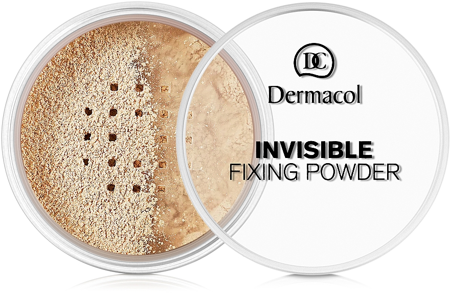 Transparentní fixační pudr - Dermacol Invisible Fixing Powder