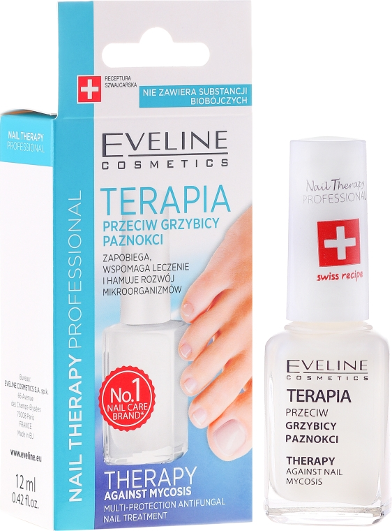 Protiplísňový prostředek na nehty - Eveline Cosmetics Nail Polish for Nail Fungus Feet & Hands Mykose
