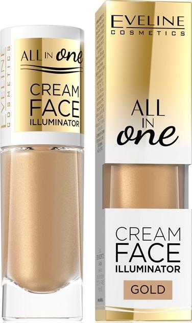Krémový rozjasňovač - Eveline Cosmetics All In One Cream Face Illuminator