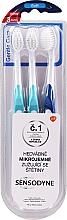 Parfémy, Parfumerie, kosmetika Sada zubních kartáčků, měkké, světle modré + modrý - Sensodyne Gentle Care Soft Toothbruhs