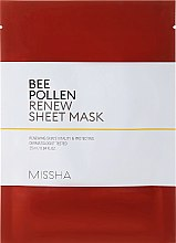 Parfémy, Parfumerie, kosmetika Regenerační pleťová maska - Missha Bee Pollen Renew Sheet Mask