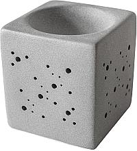 Parfémy, Parfumerie, kosmetika Aromalampa čtvercová, šedá - Flagolie By Paese Cube Fireplace Grey