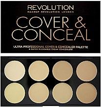 Parfémy, Parfumerie, kosmetika Korektor na obličej - Makeup Revolution Ultra Cover and Conceal Palette