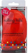 Parfémy, Parfumerie, kosmetika Kompaktní kartáč na vlasy, červený - Rolling Hills Compact Detangling Brush Red