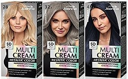 Parfémy, Parfumerie, kosmetika Barva na vlasy - Joanna Multi Cream Color Metallic