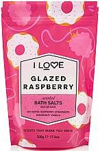 Parfémy, Parfumerie, kosmetika Sůl na vanu Glazované maliny - I Love Glazed Raspberry Bath Salt