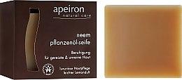 "Parfémy, Parfumerie, kosmetika Přírodní mýdlo ""Azadirachta indická"" pro problematickou plet' - Apeiron Neem Plant Oil Soap"
