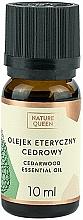 "Parfémy, Parfumerie, kosmetika Esenciální olej ""Cedr"" - Nature Queen Essential Oil Cedarwood"