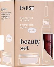 Parfémy, Parfumerie, kosmetika Sada - Paese (lipstick/2x6ml + f/powder/5.3g)