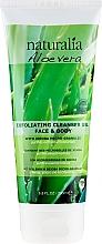 Parfémy, Parfumerie, kosmetika Čisticí gel s peelingovým účinkem - Naturalia Aloe Vera Exfoliating Cleanser Gel Face & Body