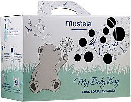 Parfémy, Parfumerie, kosmetika Sada - Mustela My Baby Bag Set (water/300ml + gel/shm/200ml + f/cr/40ml + b/cr/50ml + wipes/25pcs + bag)