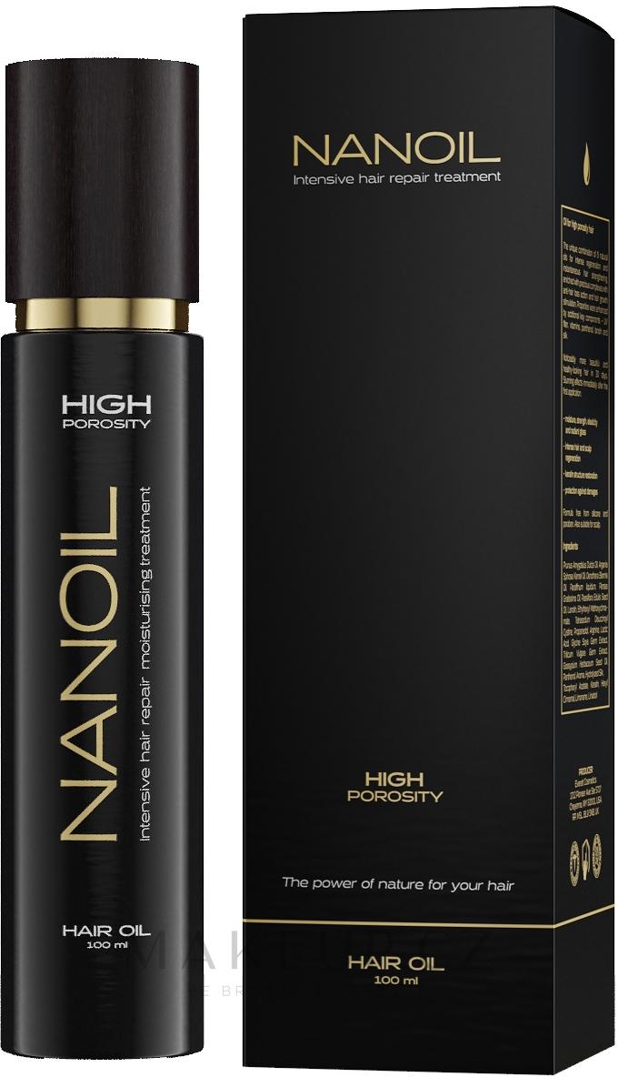 Olej na vlasy s vysokou pórovitostí - Nanoil Hair Oil High Porosity — foto 100 ml