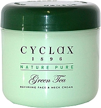 Parfémy, Parfumerie, kosmetika Krém na obličej a krk Zelený čaj - Cyclax Nature Pure Green Tea Face & Neck Cream