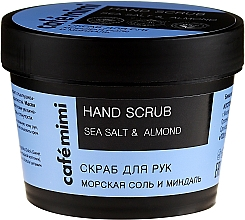 Parfémy, Parfumerie, kosmetika Peeling na ruce Mořská sůl a mandle - Cafe Mimi Hand Scrub