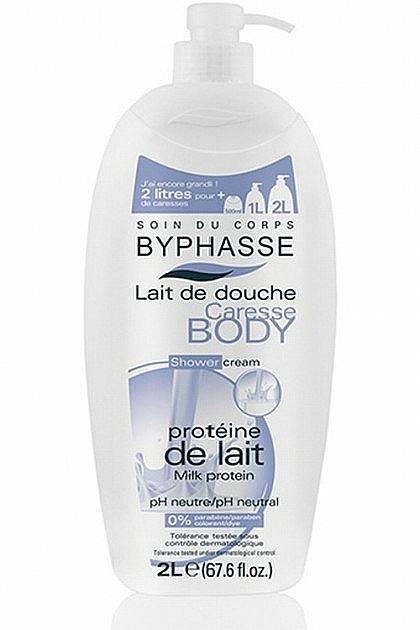 "Sprchový krém ""Mléčný protein"" - Byphasse Caresse Shower Cream"