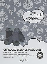 Parfémy, Parfumerie, kosmetika Plátýnková maska s uhlím - Esfolio Pure Skin Essence Charcoal Mask Sheet