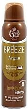 Parfémy, Parfumerie, kosmetika Breeze Deo Spray Argan - Tělový deodorant