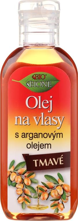 Olej na tmavé vlasy - Bione Cosmetics Keratin + Argan Oil