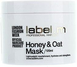 Parfémy, Parfumerie, kosmetika Vyživující maska Med a Oves pro suché a dehydratované vlasy - Label.m Nourishing Mask Honey and Oats