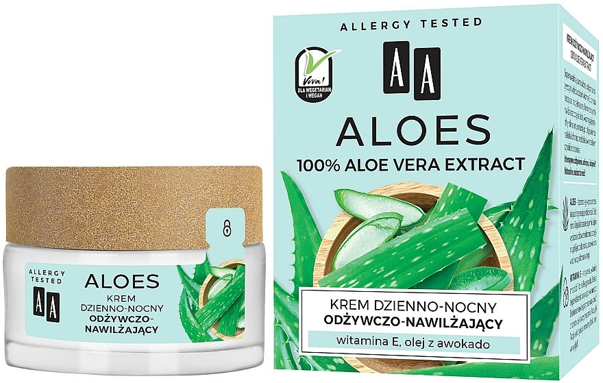 Výživný a hydratační krém s aloe - AA Aloe Vera Extract