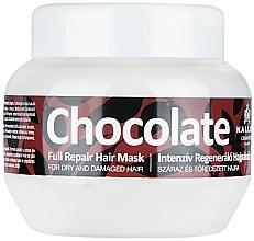 Parfémy, Parfumerie, kosmetika Maska pro suché a poškozené vlasy - Kallos Cosmetics Chocolate Mask