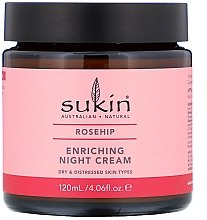 Parfémy, Parfumerie, kosmetika Výživný noční krém - Sukin Rosehip Enriching Night Cream
