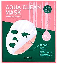 Parfémy, Parfumerie, kosmetika Bio celulózová pleťová maska - Elroel Aqua Clean Mask
