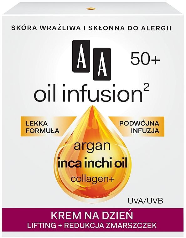 Denní krém-lifting proti vráskám - AA Oil Infusion Day Lifting Cream For Wrinkles 50+ — foto N1