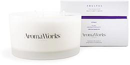 Parfémy, Parfumerie, kosmetika Aromatická svíčka Cituplný se 3 knoty - AromaWorks Soulful Candle 3-wick