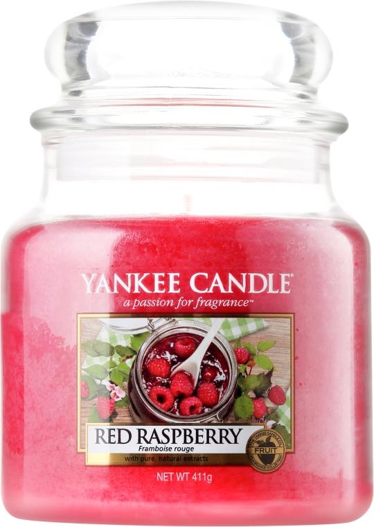 Svíčka ve skleněné nádobě - Yankee Candle Red Raspberry